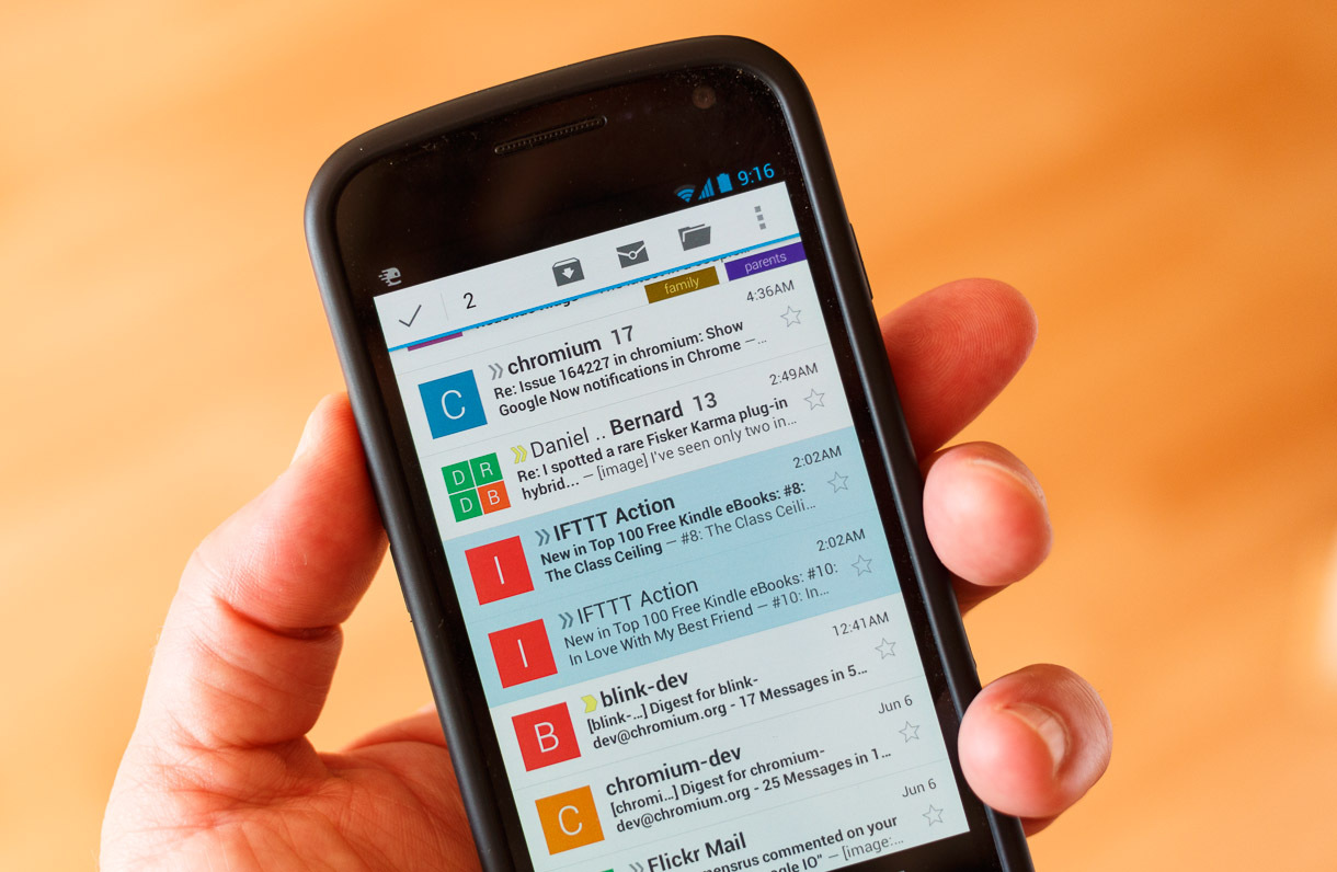 gmail-on-mobile-device