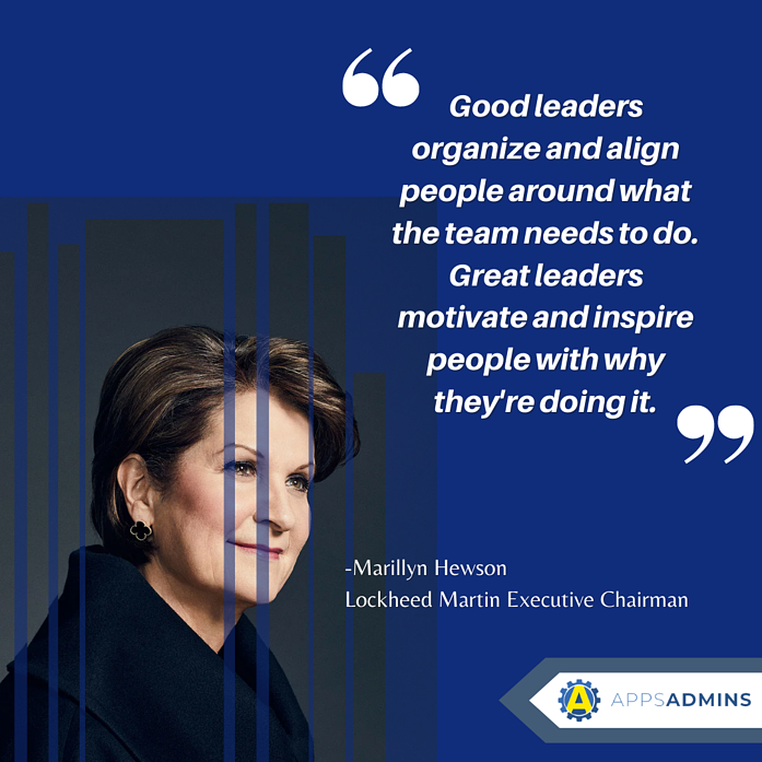 _Good leaders organize and align people around what the team needs to do. Great leaders motivate and inspire people with why theyre doing it._ (1)