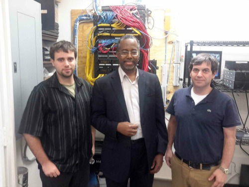 Apps Admins with Dr. Ben Carson at Network Setup