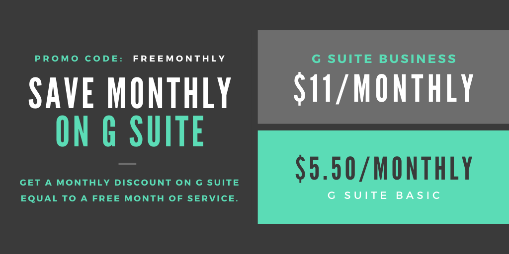 G Suite Pricing and Promos