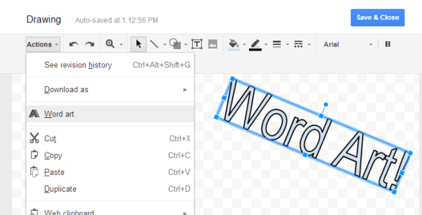 google docs insert word art resized 600