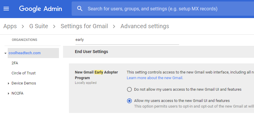 Give Your G Suite Users the New Gmail UI and Features Right Now.