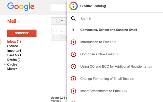 Give Your G Suite users Free in-app lessons with G Suite Training